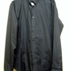DIOR HOMME - Invertible collar black shirt
