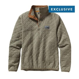 Patagonia - Diamond Quilt Snap-T\u00AE Pullover - Fatigue Green FTGN