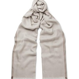 Loro Piana - Mélange Cashmere and Silk-Blend Scarf