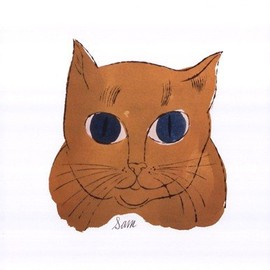 Andy Warhol - 25 Cats Named Sam and One Blue Pussy 1954 Gold Sam Art Print Poster - 11x14