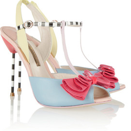 SOPHIA WEBSTER - Vivi patent-trimmed leather sandals