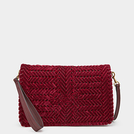 ANYA HINDMARCH - Velvet Neeson Cross-Body Oxblood