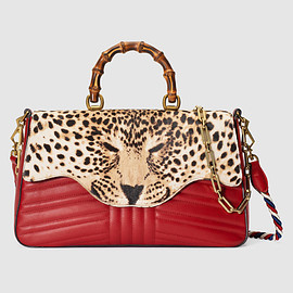 gucci - Leopard print top handle bag