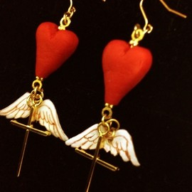LiLy - fly heart ピアス