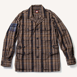 THE RUGGED MUSEUM - DARK MADRAS CHECK SAFARI JACKET