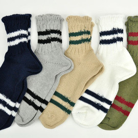 NEPENTHES - Stripe Ankle Socks