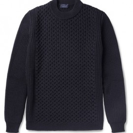 LANVIN - LANVIN / Knitted Wool Sweater Blue