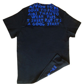 Maison Martin Margiela - AIDS T-Shirt (Black×blue)