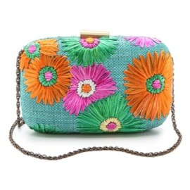 flower clutch bag