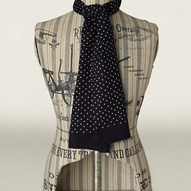 RRL - Polka Dot Mayfair Scarf (Black)