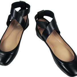 Chloe - Chloé Criss-Cross Ballerina Flats In Black