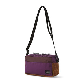 "HEAD PORTER - ""JACKSON"" 2WAY POUCH PURPLE"
