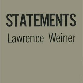 Lawrence Weiner - STATEMENTS, Limited 1000 copies