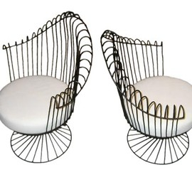 Mathieu Mategot - Wire Furniture Suite / barrel back chair