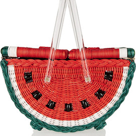Charlotte Olympia - Watermelon Basket straw tote