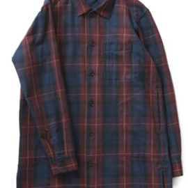 bal - Original Plaid Long Shirt Coat (navy)