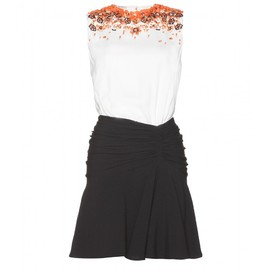 miu miu - EMBELLISHED CREPE DRESS