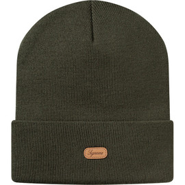 Supreme - Leather Patch Beanie