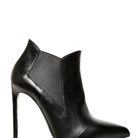 SAINT LAURENT - Paris Pointed Calfskin Boots