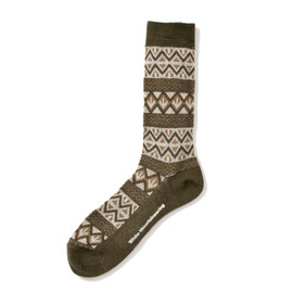 White Mountaineering - TRIANGLE ARROW PATTERN MIDDLE SOCKS