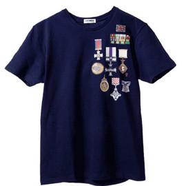 not mine - Pete's Medal Tee (navy)