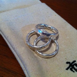 ICHIMATSU - Silver Triple Combination Ring -市松