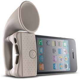 Horn Stand, iPhone 4/4S Portable Amplifier, Clay, Bone Collection, LF10021-LBR