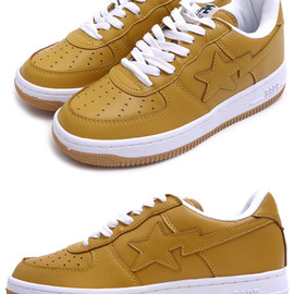 A BATHING APE - LEATHER BAPESTA