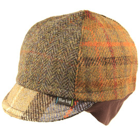 BLUE LUG - Harris tweed winter 4panel cycle cap