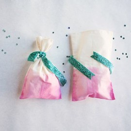gift wrapping / dip dyed favor bags