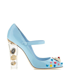 DOLCE&GABBANA - FW2015 Porcelain Patent Mary Jane Pump With Transparent Plexi Heel
