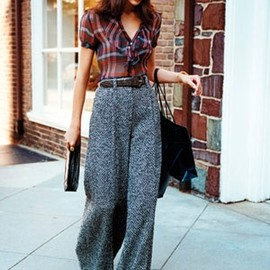 """ French classic"" Forties style trousers and a cute beret. Retro Inspired streetstyle."