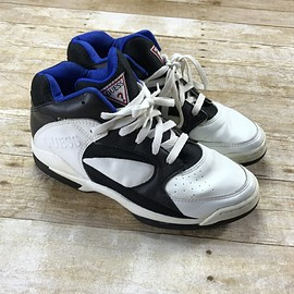 GUESS - Vintage 90s GUESS Sneakers White / Black / Blue Mens Size 10