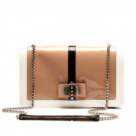 Christian Louboutin - 2012/S/S☆Christian Louboutin★Sweet Charity nude patent leather clutch bag 1
