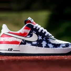 Nike - NIKE AIR FORCE 1 LOW MIDNIGHT NAVY/WHITE-UNIVERSITY RED