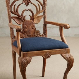 Anthropologie - Handcaved Menagerie Dining chair