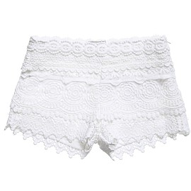 Mayoral - Girls White Lace Shorts