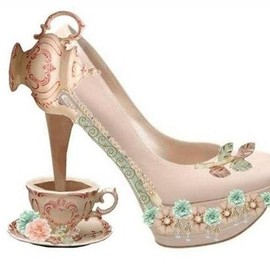 "Silver Doe - ""Wonderland"" Premade shoe"