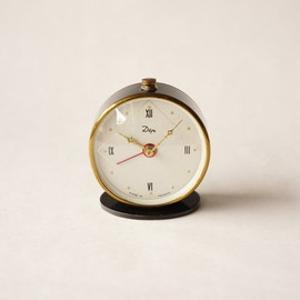 dep - small alarm clock lovely / black gold-rimmed / france