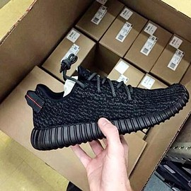 adidas originals - ADIDAS YEEZY 350 BOOST BLACK/BLACK