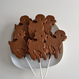 NicolesTreats - Chocolate Lamb Lollipops 12 Lollipops