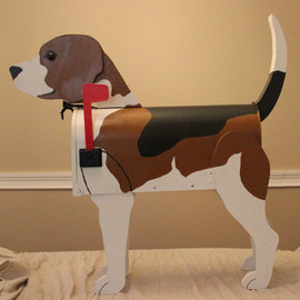 DadandSonsWW - Beagle Dog Lover Mailbox