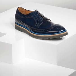 Paul Smith Shoes - GRAND - Navy rubber sole brogues