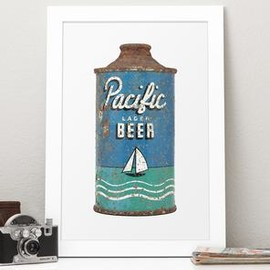 THE BEER BOOK - Vintage Pacific Lager Photo Art
