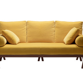 HERMES - Yellow LeatherSofa de réception
