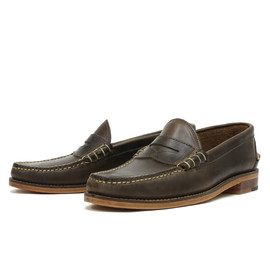 OAK STREET BOOTMAKERS - Natural Beefroll Penny Loafer