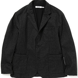 nonnative - DWELLER 3B JACKET W/N/P LIGHT MELTON - CHARCOAL