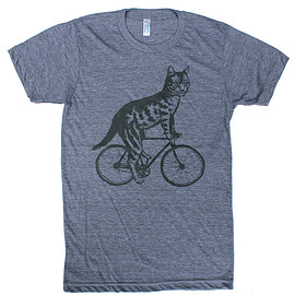 DARK CYCLE  CLOTHING - Cat On A Bike T-Shirt