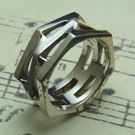 Hexagons Ring L [grocca]
