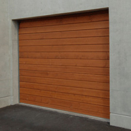 "NIDOCO(NIHON DOOR CORPORATION) - ""WOODY""  Fire Protected Garage Door(Electric Over Slider) with ""Marantec Comfort250"""